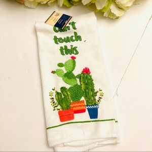 Can't touch this funny cactus hand towel new